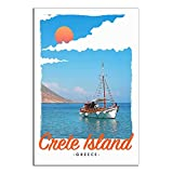 ASFGH Kreta Griechische Insel Vintage Reise Poster Dekor