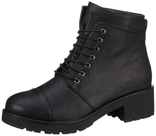 PIECES Damen PSDAKOTA Boot Stiefeletten, Schwarz Black, 39 EU