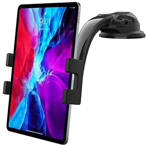 """Supporto Tablet Auto Cruscotto, woleyi Porta Tablet & Telefono Cruscotto con Ventosa Ultra Stabile, per iPad Pro 12.9 10.5 9.7 Air Mini 5 4 3 2, Galaxy Tab, iPhone 4-13"""" Cellulare e Tablet"""