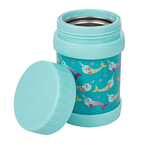 Bentology Stainless Steel Insulated Lunch 13 oz Jar for Kids –Large Leak-Proof Storage Container for Hot & Cold Food, Soups, Liquids - BPA Free - Fits Most Lunch Boxes and Bags - Narwhal