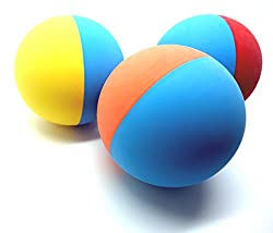 Colorful rubber dog balls are perfect for fetch and other games - works with all standard ball launchers Play should be supervised. Tennis ball sized balls can be a choking hazard for some dogs 100% all natural rubber - most other dog ball are made f...