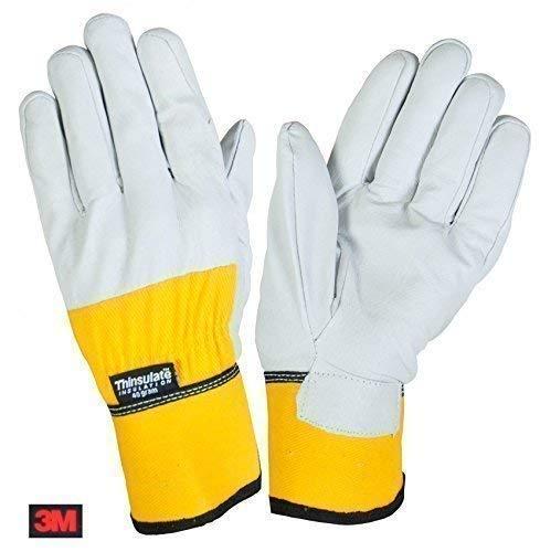 Thermo-Arbeitshandschuhe 3M Thinsulate Lederhandschuhe Handschuhe Montage Winter, Größe:9
