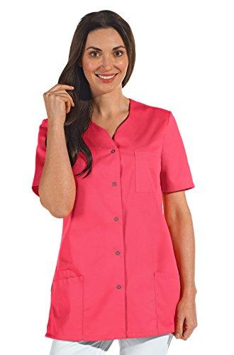 clinicfashion 10112068 Kurzkasack dunkelrosa für Damen, Mischgewebe, Größe 44