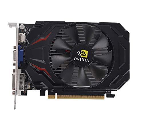 Game Graphics Card,GeForce GT1030 2GB GDDR5 128Bit VGA+DVI-D+HDMI PCI-E 3.0 Fan Cooling PC Desktop Video Cards(Black)