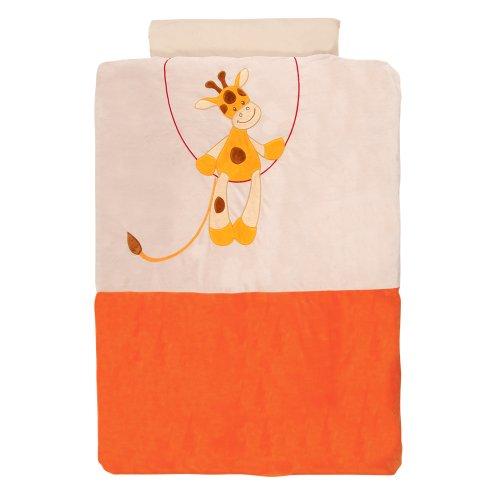Nattou 184410 Jungle - Bettwäsche mit Kissenbezug, orange