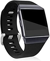 Fitbit Ionic Band Replacement Band Silicone Wristband, Women Men Adjustable Replacement Straps for Fitbit Ionic Tracker