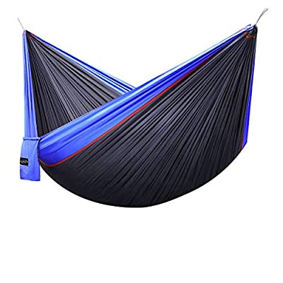 """G4Free Double Camping Hammock Parachute Nylon 660lbs(118""""x 75"""") with Carabiners&Straps"""