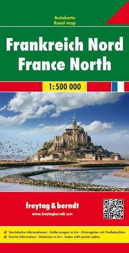 F&B Frankrijk-Noord: Wegenkaart 1:500 000
