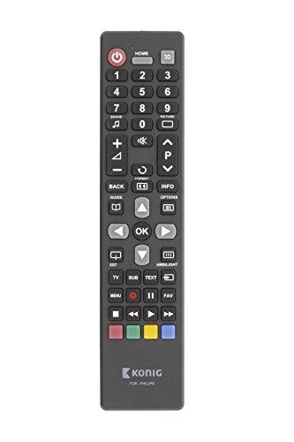 Eurosell Ersatz Fernbedienung für ALLE Philips Fernseher TV Fernseh Geräte zb für 55PUS7181 55POS9002/12 43PFS4131/12 32PFS6402/12 49PUS6101/12 49PUS7101/12 43PUS6412/12 17 PF 42 15 23 50 20 32 37