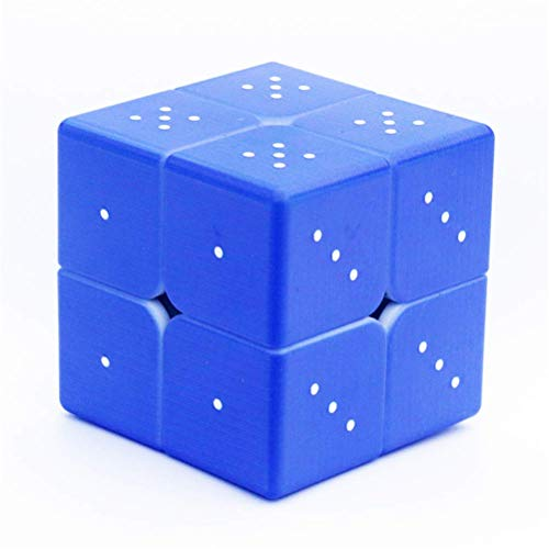 Sooiy 3D Repossment Magic Cube 2X2 Rompecabezas de Juguete para Personas ciegas o Color Amblyopia Brain Teaser Puzzles