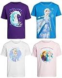 Disney Paquete de camiseta de princesa para niña – Princesa, Frozen, Minnie Mouse (paquete de 4), Frosten, 4 Años