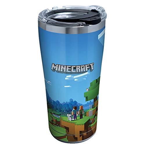 Tervis Minecraft Vaso aislado, 20 onzas – Acero inoxidable, arte de la cubierta
