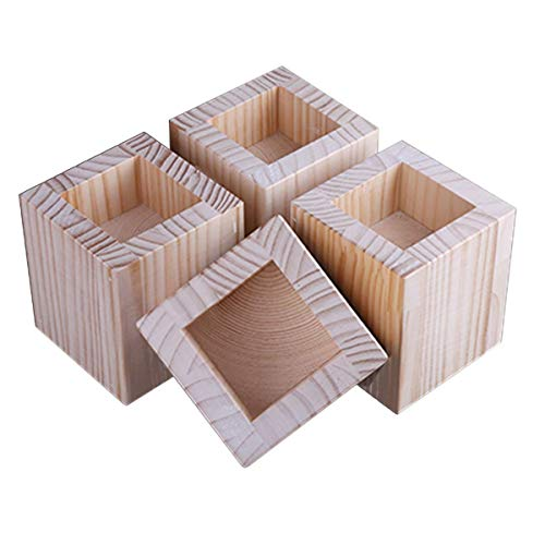 Höhere Betterhöhung, stabile quadratische Möbelheber, 4 Packungen, Rillenbettheber – Tischerhöhungen zum Anheben von Sofa-Beinen (Größe: A)