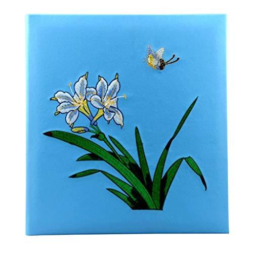 album fotografico bambina nascita Album fotografici Foto 4x6 360, Foto 4x6 '' 360 5 foto per pagina, copertina ricamata in PU (motivo orchidea), album di pagine di album Foto Turismo Amore (colore: A)
