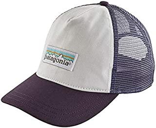 7a93a162 Patagonia Women's Pastel P-6 Label Layback Trucker Hat (White/Piton Purple,