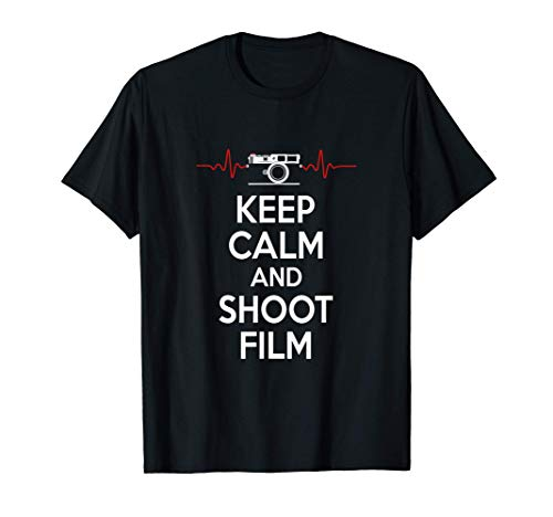 Keep Calm And Shoot Film Retro Rangefinder Kamera Fotograf T-Shirt