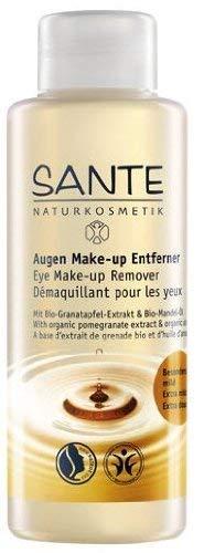 SANTE Naturkosmetik Augen Make-up Entferner, Mit milden Tensiden & Bio-Ölen, Vegan, reinigt sanft & schonend, entfernt wasserfestes Make-up, 100ml