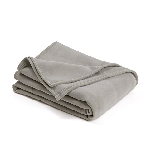 The Original Vellux Blanket - King, Soft, Warm, Insulated, Pet-Friendly, Home Bed & Sofa - Tornado Grey