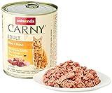 animonda Carny Adult Katzenfutter, Nassfutter für ausgewachsene Katzen, Rind + Huhn, 6 x 800 g