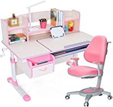 Kids Desk and Chair Set Kids Furniture Multifunctional Study Table Workstation for School Students, Height Adjustable Chil...