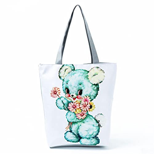 SSHUO Miyahouse Women Feather Unicorn Design Tote Bag Large Capacity Cute Cartoon Print Student Shoulder Carrying A Schoolbag-hl0481,a