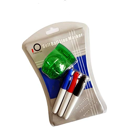 FINGER TEN Golf Ball Line Marker Golfballmarkierer Wert Set Geschenk Packung Markierung Template Liner Putt Alignment Clip Golfzubehör Für Herren Damen Kinder (C Style)