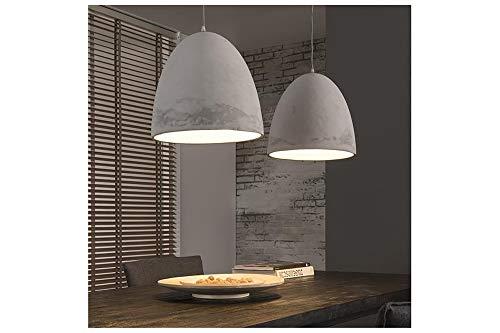 SalesFever Hängeleuchte DILARA | 2-flammige Lampenschirme aus Leichtbeton | großzügige Pendellampe | 112 x 150 cm | Energieklasse A++ bis E