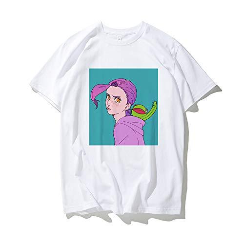 ジョジョの奇妙な冒険 : 半袖Tシャツ ドッピオ ボス メンズ レディース 6種類のデザイン (XL, E)