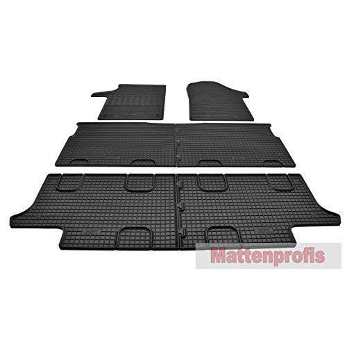 Mattenprofis Gummimatten Gummifußmatten Komplettauslage für Mercedes V-Klasse W447 ab Bj.2014