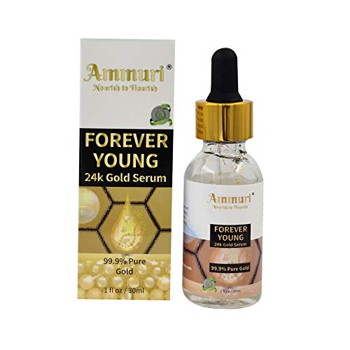 FOREVER YOUNG 24K Gold Serum for Anti Wrinkle & Anti-Ageing with Vitamin C with Sodium Hyaluronate 24K Gold