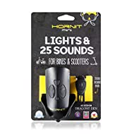 Hornit MINI Black   Bike & Scooter Horn and Light for Children and Kids  25 Sound effects / 5 Lights