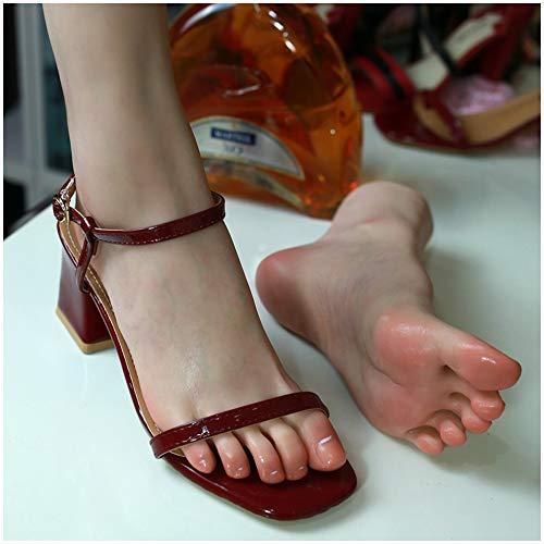 High-End de silicona Pies Modelo - Pies de silicona Modelo maniquí - Pies tamaño natural del pie Mujer Modelo maniquí de pie - de arte del bosquejo zapatos Cadenas Anckle Modelo de presentación