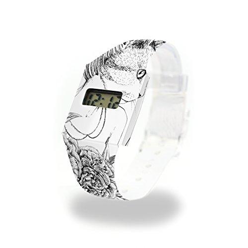 MIAU - Pappwatch - Paperlike Watch - Digitale Armbanduhr im trendigen Design - aus absolut reissfestem und wasserabweisenden Tyvek® - Made in Germany, absolut reißfest und wasserabweisend