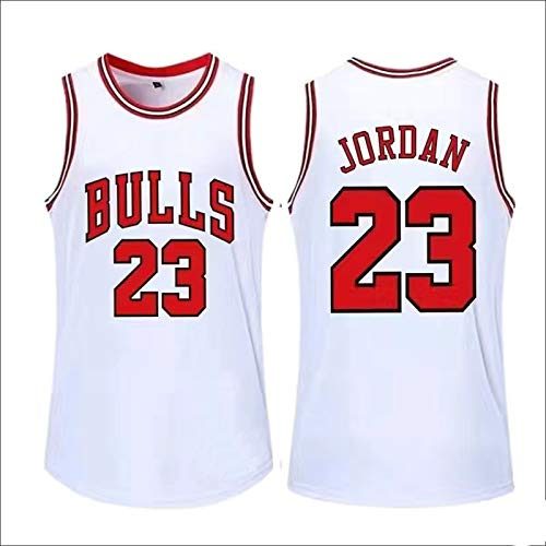 Michael Jordan Chaleco Sin Mangas #23 Baloncesto Rojo 1997-98 Jersey Clásico Chicago Bulls Retro Gimnasio Transpirable Secado Rápido Chaleco Deportes Tops - Blanco
