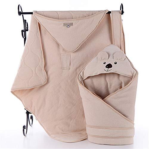 ZYEZI Couverture d'enveloppe d'enveloppe de Couchage de bébé, Nouveau-né Universel Souple de Sac de Sommeil à emmailloter pour la Poussette de lit