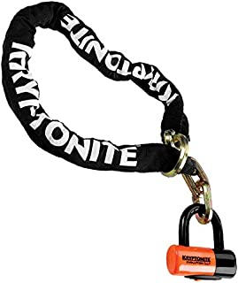 "Kryptonite 999546 Black 12mm x 51"" (1213) New York Noose Chain and Orange 14mm Evolution Series 4 Disc Lock"