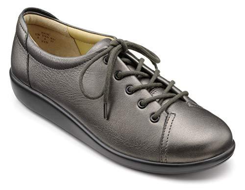 Hotter DEWZXE - Hotter Dew Zapatos de cordones extra anchos para mujer de Piel Mujer