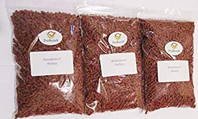 PROREZULT Dried Bloodworm Pellets BUY 2 and GET 3 PACKS. SEE OPTIONS MENU. Pond and Aquarium Fish Food Treats Tropical Coldwater Large 100g Packs from (2 x Packs + 1 FREE Pack) by PROREZULT