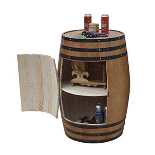 JIANGJI A+ Eiche Weinfass Weinfass Weinregal Holz Weinfass Braun Weinschrank Dekoration Weinkeller...