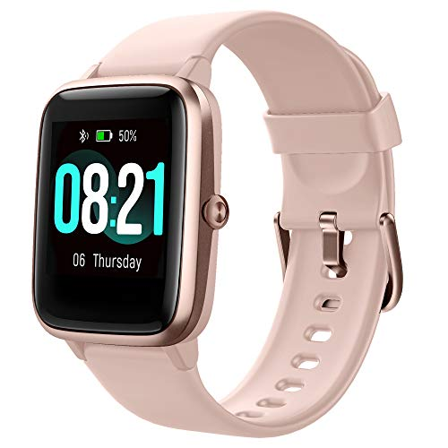GRDE Smartwatch Damen, Bluetooth Smart Watch 1.3 Zoll Voll Touchscreen Fitness Tracker IP68 Wasserdicht mit Pulsuhr Schrittzähler Schlafmonitor Stoppuhr Damen Herren Sportuhr für iOS Android