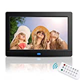 Digital Picture Frames, GAKOV GAP701 7 Inch with IPS Full-View Multi Modes Slideshow Digital Photo Frame with Background Music 1080P/Stereo/MP3/Calendar/Time/Remote/Best for Gift or Present (S)
