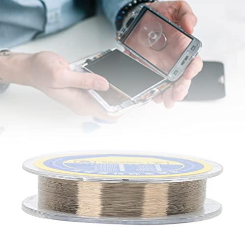 Stahldraht, Telefonreparaturdraht 500 m Sprungdraht Verschleißfestigkeit mit kompakter Form für Telefon(0.05mm/500m)