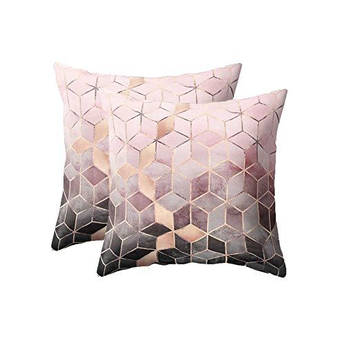 shihao159 Gold Shining Geometric Printed Polyester Winter Warm Peach Skin Cashmere Throw Pillow Cases Sofa Waist Car Seat Cushion Cover Home Decor