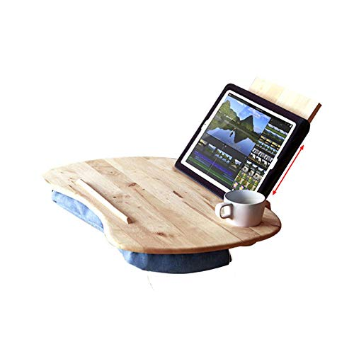 Home&Selected Multifunctionele schrijftafel Pillow Laptop Rubber Houten Lazy tafel Tablet Mini Helende steen