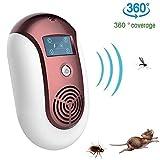 Intérieur 5W Ultrasonic Mosquito Repellent Mouse Protection 100㎡ Repeller Pest Anti-Moustique Moustique Tueur Lampe pour la Maison,Rouge