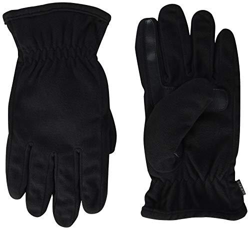 Isotoner Herren Men's Fleece Touchscreen Glove Handschuhe für kaltes Wetter, schwarz, X-Large