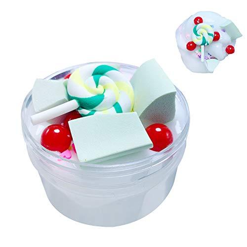 Color Mud Gowsch DIY Fluffy Schaumstoff Lollipop Cloud Slime Stress Relief Schlamm Baumwolle Schlamm Plastilin Kinder Spielzeug