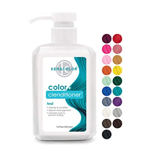 Keracolor Clenditioner Color Depositing Conditioner Colorwash, Teal, 12 fl oz