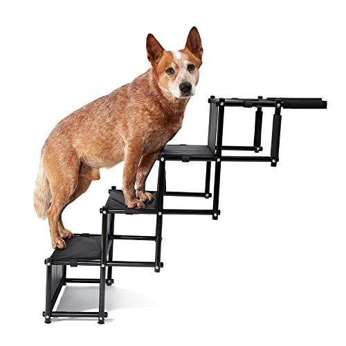 PiuPet® Universal Hundetreppe für große und kleine Hunde - bis 80 kg belastbar - für alle Fahrzeuge nutzbar - klappbare Hunderampe