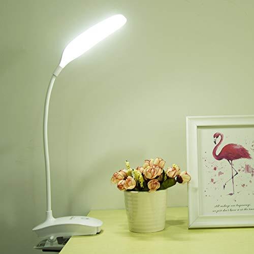 YCEOT Nachtlampje Oplaadbare Flexibele Led Bureau Lamp Kantoor Bedzijde Kamer Studie Lamp Licht Tafellampen 18650 Batterij Touch Schakelaar Dimmer